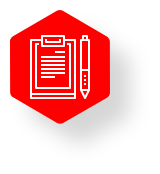 IronNet-Cyber Assessment Tool-How it works-Pen and notepad icon