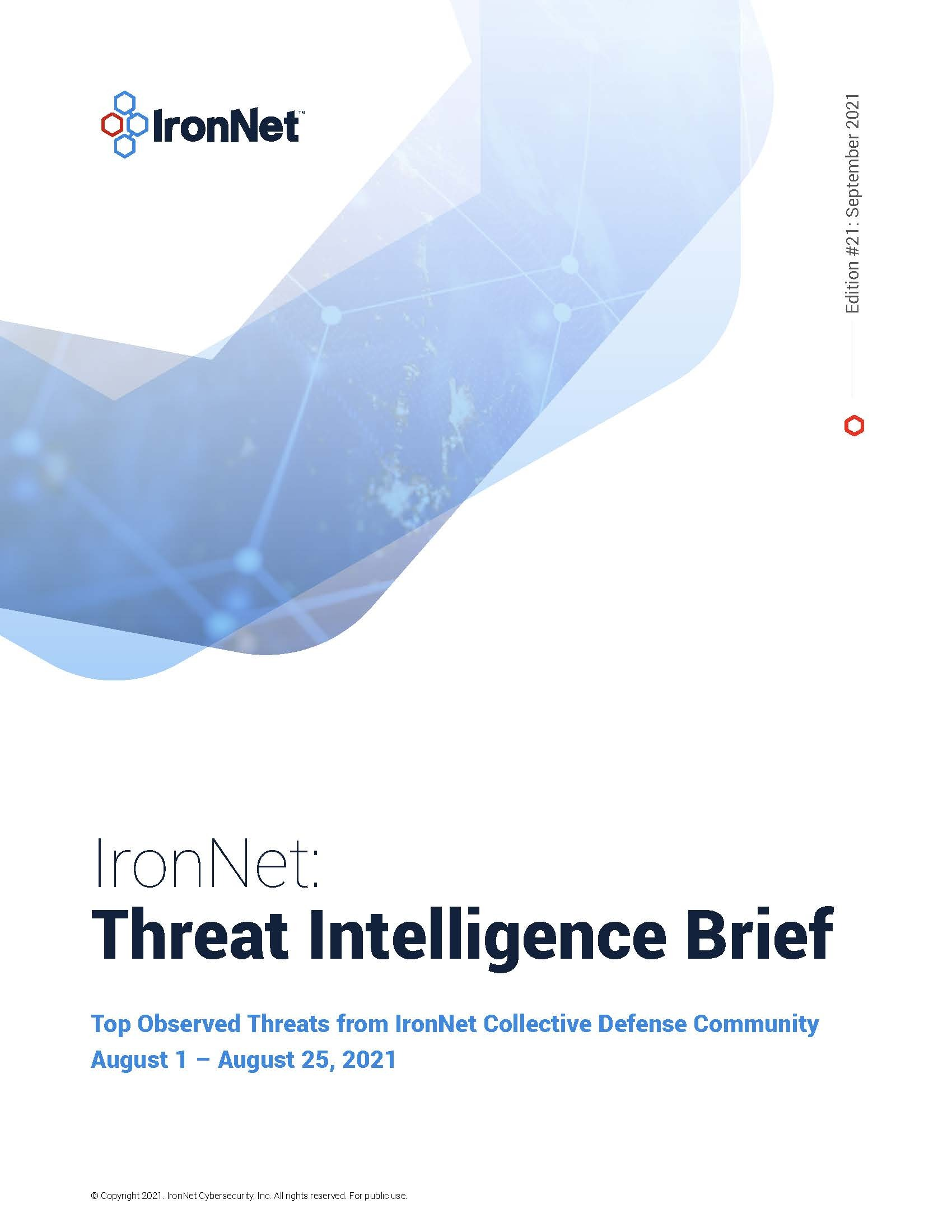 Cover_IronNet Threat Intelligence Brief_August 2021