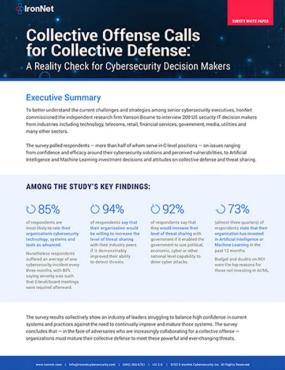 IronNet-Collective Offense calls for Collective Defense
