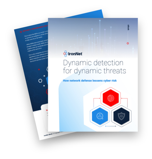 IronNet-NDR eBook-eBook Cover Dynamic Detection