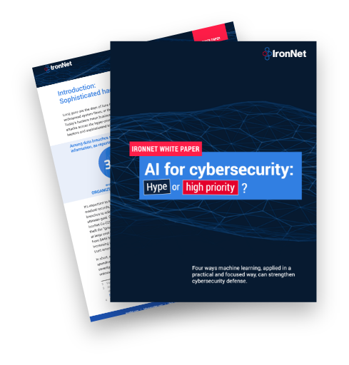 IronNet-White Paper-AI for cybersecurity-Cover Image