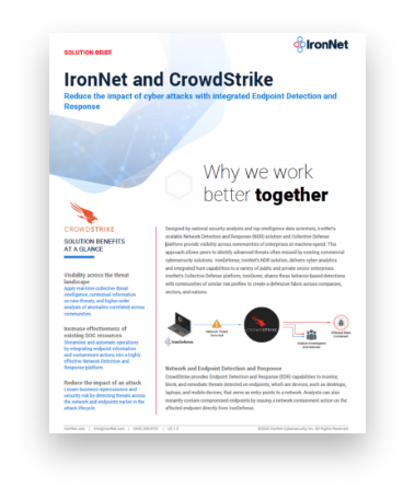 IronNet-and-CrowdStrike-Solution-Sheet-Cover